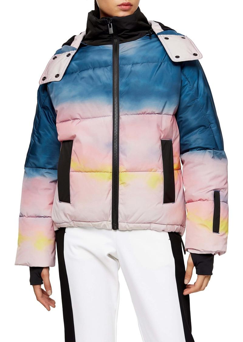 Topshop SNO Ombré Water Repellent Hooded Ski Jacket