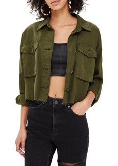 Topshop Sonny Raw Hem Crop Jacket