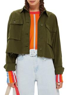 Topshop Sonny Raw Hem Crop Jacket