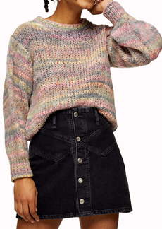 Topshop Space Dye Crop Sweater