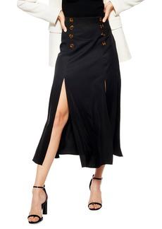 Topshop Splice Midi Skirt