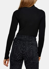 Topshop Spliced RollNeck Sweater