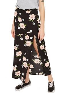 Topshop Split Floral Maxi Skirt