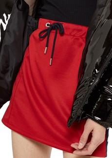 Topshop Sporty Popper Miniskirt