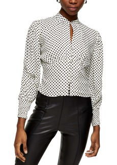 Topshop Spot Button-Up Blouse
