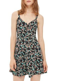 Topshop Spot Floral Skater Dress