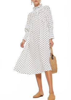 Topshop Spot Frill Midi Dress