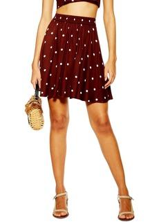 Topshop Spot Print Miniskirt
