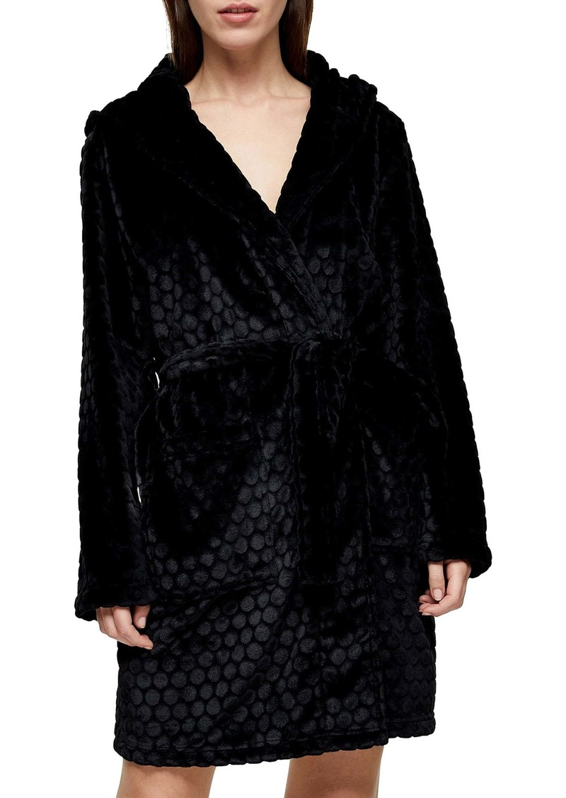 Topshop Spot Textured Robe
