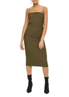 Topshop Square Neck Body-Con Midi Dress