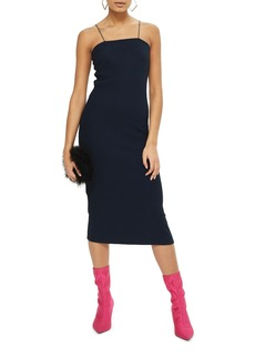 Topshop Square Neck Body-Con Midi Dress