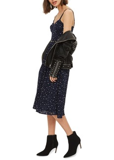 Topshop Star Lace Bustier Midi Dress