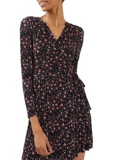 Topshop Star Plissé Wrap Dress