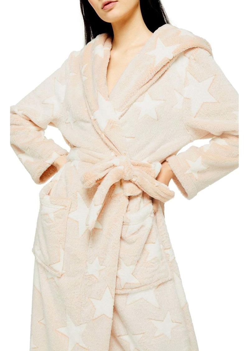 Topshop Star Print Hooded Robe