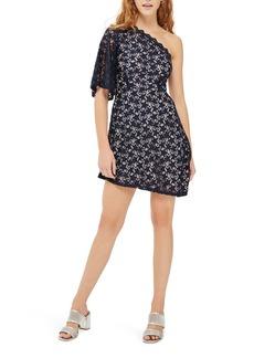 Topshop Star Print Lace Minidress