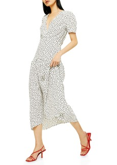 Topshop Starlight Spot Print Midi Dress