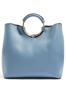 Topshop Stef Metal Handle Tote Bag