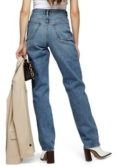 Topshop Straight Leg Dad Jeans (Mid Denim) (Regular & Long)