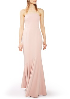 Topshop Strapless Crepe Gown