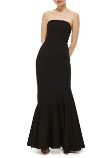Topshop Strapless Mermaid Gown