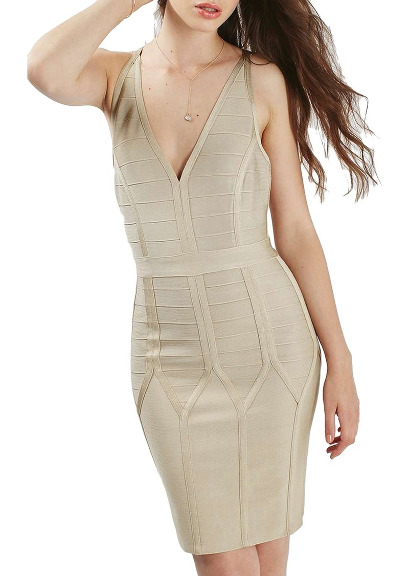 Topshop Strappy Bandage Body-Con Dress