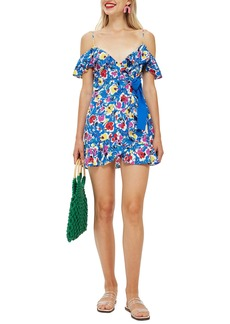 Topshop Strappy Floral Minidress