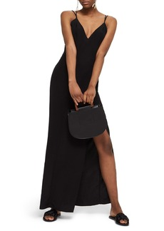 Topshop Strappy Plunge Neck Maxi Dress