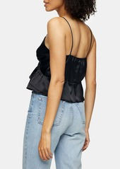 Topshop Strappy Ruffle Camisole