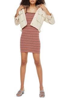 Topshop Stripe Body-Con Minidress