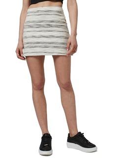 Topshop Stripe Bouclé A-Line Miniskirt (Regular & Petite)