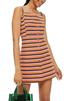 Topshop Stripe Button Down Minidress