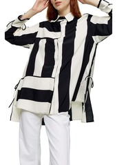 Topshop Stripe Chuck-On Button-Up Shirt