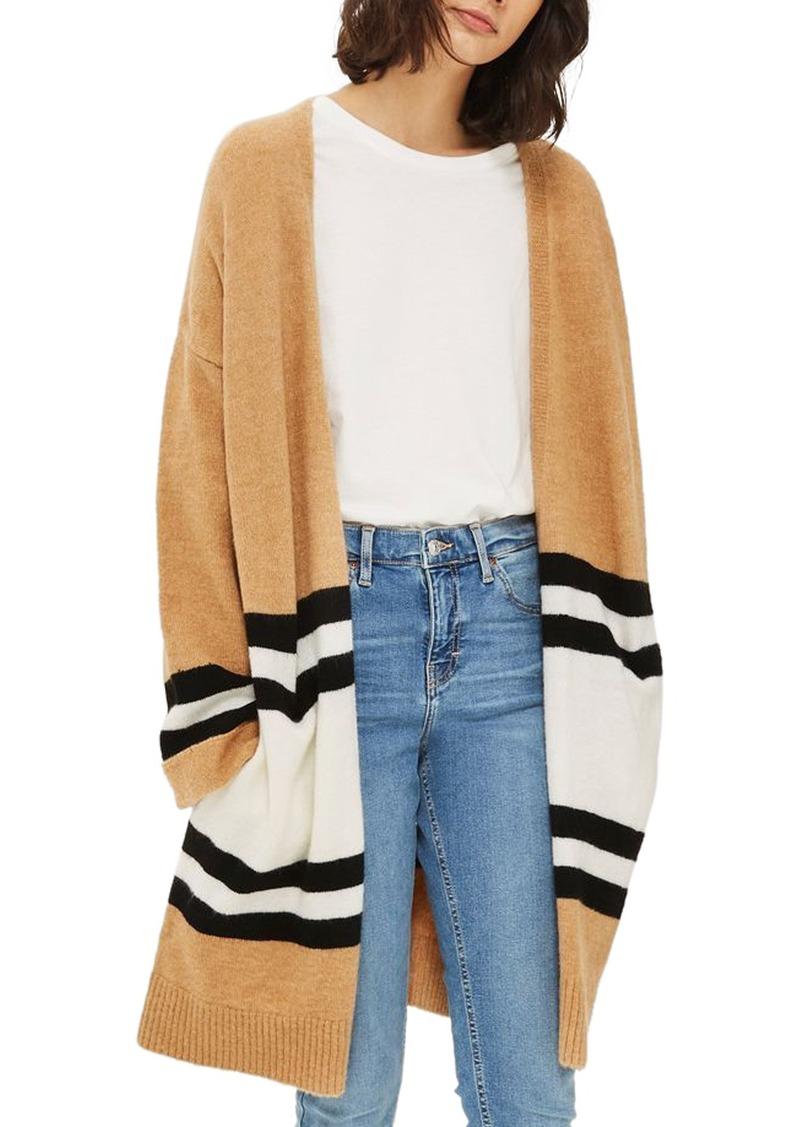 50620b39 Stripe Colorblock Cardigan