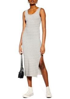 Topshop Stripe Column Midi Dress