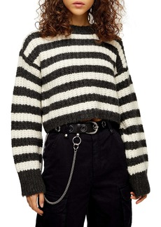 Topshop Stripe Crewneck Sweater