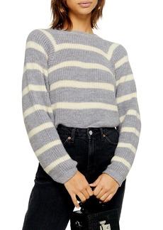 Topshop Stripe Crop Sweater
