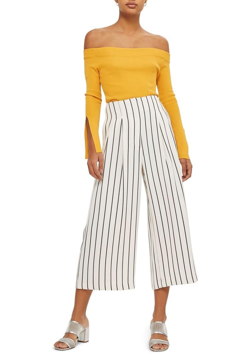 8ebbbf02383d4 Topshop Topshop Stripe Crop Wide Leg Trousers   Casual Pants