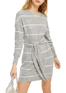 Topshop Stripe Cut & Sew Minidress