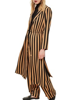 Topshop Stripe Duster Jacket