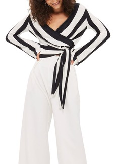Topshop Stripe Knit Wrap Top