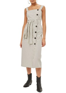Topshop Stripe Midi Dress