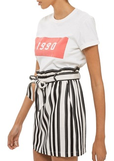 Topshop Stripe Paperbag Skirt