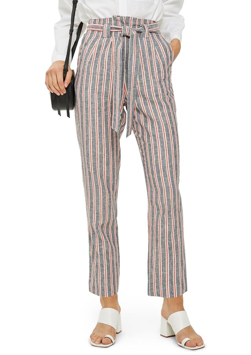Topshop Stripe Peg Trousers