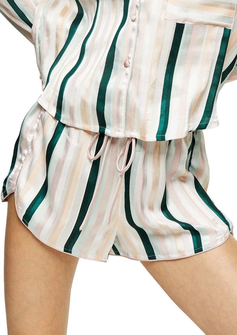 Topshop Stripe Satin Pajama Shorts