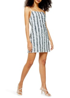 Topshop Stripe Sequin Cocktail Slipdress