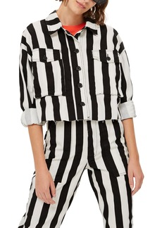 Topshop Stripe Shirt Jacket