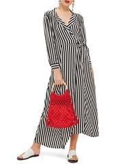 Topshop topshop stripe wrap midi shirtdress abva29d9e8 a
