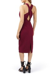 Topshop Structured Crisscross Back Midi Dress