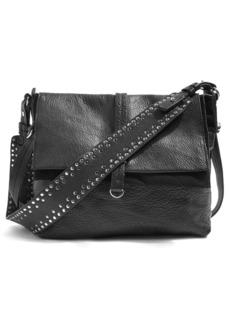 Topshop Studded Calfskin Leather Hobo Bag