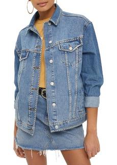 Topshop Studded Denim Jacket